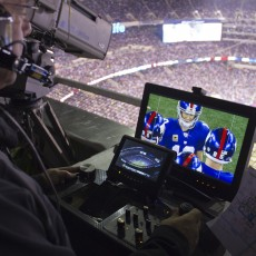 Cable Cam operator Don Canfield during the NYG 2012 home opener