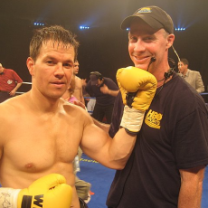 "Camera Op Rick Cypher on set with Mark Wahlberg for ""The Fighter"""