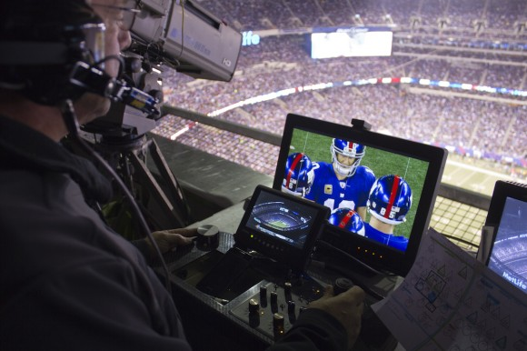 Skycam Camera Operator at Giants Game.